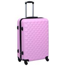 vidaXL Βαλίτσα Τρόλεϊ με Σκληρό Περίβλημα Ροζ από ABS