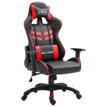 vidaXL Καρέκλα Gaming Κόκκινη από Συνθετικό Δέρμα