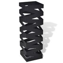 Ομπρελοθήκη Τετράγωνη / Σταντ για Μπαστούνια Μαύρη 48,5 εκ. Ατσάλινη