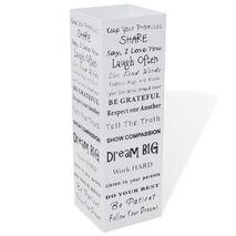 Ομπρελοθήκη Τετράγωνη / Σταντ για Μπαστούνια Λευκή 48,5 εκ. Ατσάλινη