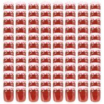 vidaXL Βάζα Μαρμελάδας 96 τεμ. 230 ml Γυάλινα με Κόκκινα/Λευκά Καπάκια