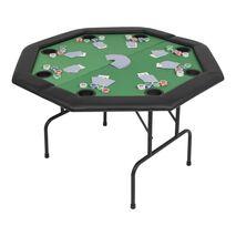 vidaXL Τραπέζι Πόκερ 8 Ατόμων Πτυσσόμενο Οκταγωνικό Πράσινο