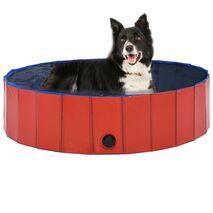 vidaXL Πισίνα για Σκύλους Πτυσσόμενη Κόκκινη 120 x 30 εκ. από PVC