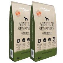 vidaXL Ξηρά Τροφή Σκύλων Premium Adult Sensitive Lamb & Rice 2τεμ 30 κ