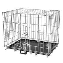Κλουβί Σκύλου Πτυσσόμενο L Μεταλλικό