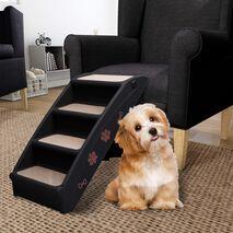vidaXL Σκαλάκια για Σκύλους Πτυσσόμενα Μαύρα 62 x 40 x 49,5 εκ.